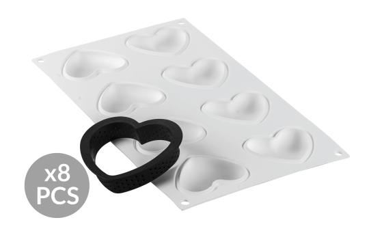 MimoMix - Kit Tarte Ring Herz 80x70mm, 8 Nutzen