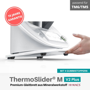 MimoMix - ThermoSlider® M | V2 Plus | Alpine White | Premium-Gleitbrett für Thermomix TM6/TM5